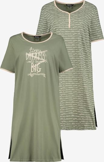 Ulla Popken Nachthemd in de kleur Beige / Olijfgroen, Productweergave