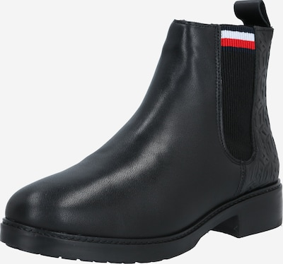 TOMMY HILFIGER Stiefelette in dunkelblau / rot / schwarz / weiß, Produktansicht