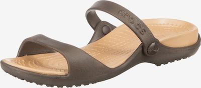 Crocs Pantolette 'Cleo' in kastanienbraun / hellgelb, Produktansicht