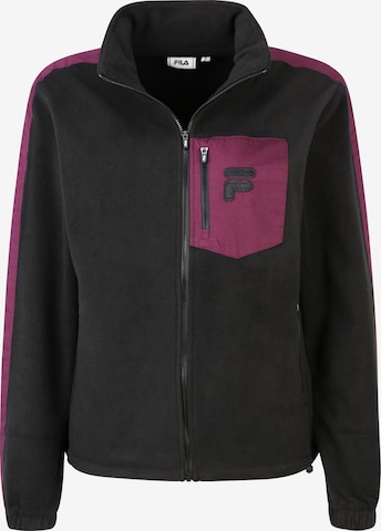 FILA Fleece Jacket 'RINA' in Black