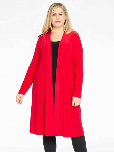 Yoek Strickjacke in rot, Modelansicht