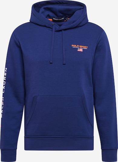 POLO RALPH LAUREN Sweatshirt in royalblau / dunkelorange / weiß, Produktansicht