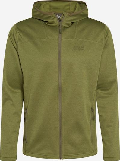 Funkcinis flisinis džemperis 'Horrison' iš JACK WOLFSKIN , spalva - pilka / alyvuogių spalva, Prekių apžvalga