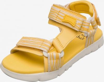 CAMPER Sandales 'Oruga' en jaune / blanc, Vue avec produit