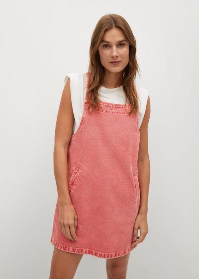 MANGO Latzrock in pitaya, Modelansicht