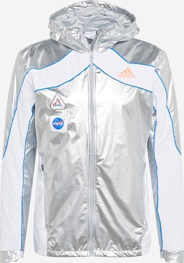 ADIDAS PERFORMANCE Jacke 'Marathon Space Race' in royalblau / neonorange / silber / weiß, Produktansicht