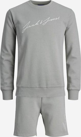 JACK & JONES Joggingpak in de kleur Grijs / Wit, Productweergave