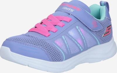 SKECHERS Baskets en turquoise / bleu clair / rose, Vue avec produit