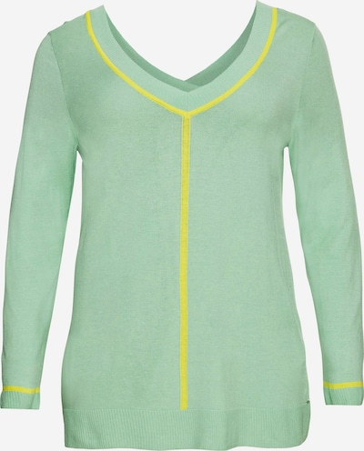 SHEEGO Pull-over en jaune / vert clair, Vue avec produit