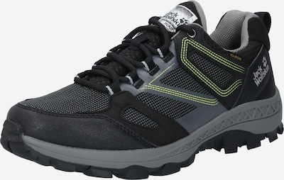 JACK WOLFSKIN Low shoe 'DOWNHILL TEXAPORE LOW M' in grey / neon green / black, Item view