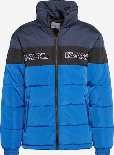 Karl Kani Veste d'hiver en bleu / bleu nuit / noir / blanc, Vue avec produit