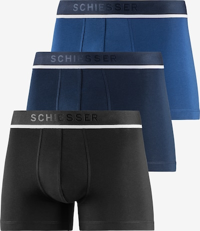 SCHIESSER Boxers en bleu / bleu marine / noir / blanc, Vue avec produit