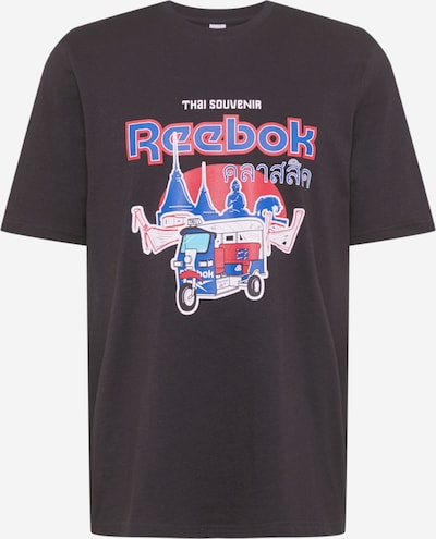 Reebok Classics T-Shirt fonctionnel en bleu / rouge / noir / blanc, Vue avec produit