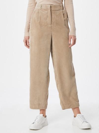 MOSS COPENHAGEN Kalhoty se sklady v pase 'Charis Jeppi' - světle béžová, Model/ka