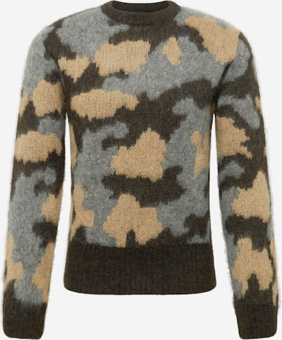 Pullover 'VINCENT' DRYKORN di colore marrone chiaro / marrone scuro / grigio sfumato, Visualizzazione prodotti