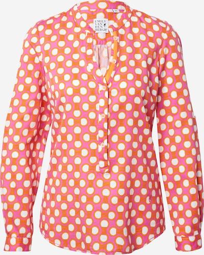 Emily Van Den Bergh Блуза в оранжево / розово / бяло, Преглед на продукта