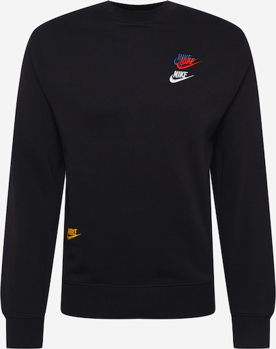 Hanorac sport Nike Sportswear pe albastru deschis / galben / portocaliu închis / negru / alb, Vizualizare produs