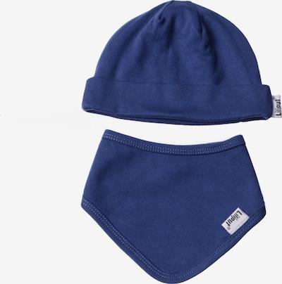 LILIPUT Baby-Mütze und Halstuch im 2er-Set in schlichtem Design in blau, Produktansicht