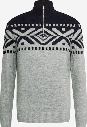 BURTON MENSWEAR LONDON Pullover i natblå / gråmeleret, Produktvisning