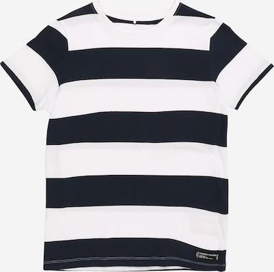 NAME IT Shirt 'SANDVO' in dunkelblau / weiß, Produktansicht