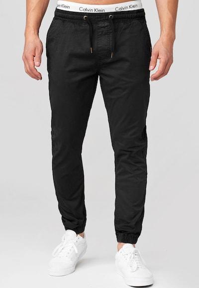 Pantaloni 'Fields' INDICODE JEANS pe negru, Vizualizare model