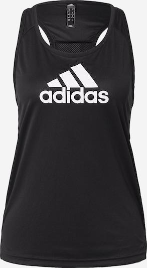 ADIDAS PERFORMANCE Sporttop in schwarz / weiß, Produktansicht