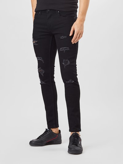 Only & Sons Vaquero 'ONSWarp' en negro denim, Vista del modelo