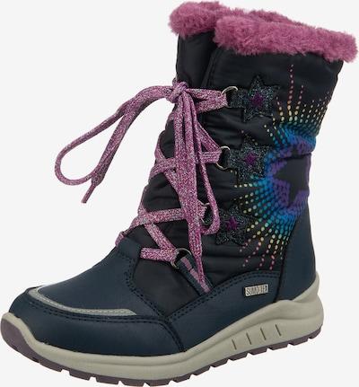 Be Mega Winterstiefel in dunkelblau / pink, Produktansicht