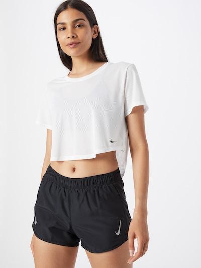 NIKE Camiseta funcional en negro / blanco: Vista frontal