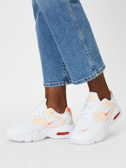 Nike Sportswear Tenisky 'Air Max 2X' v bílé barvě s korálovými a broskvovými akcenty