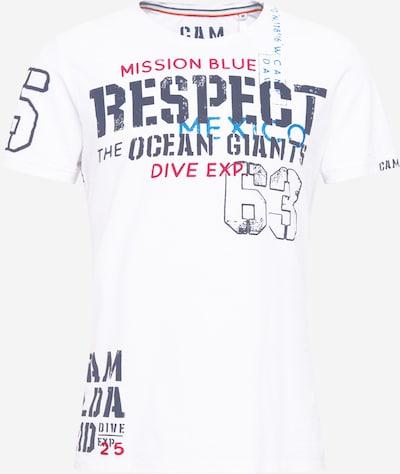 Tricou CAMP DAVID pe albastru regal / albastru porumbel / roși aprins / alb, Vizualizare produs