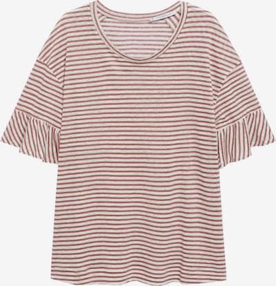 VIOLETA by Mango T-Shirt 'SILVERY' in mauve / weiß, Produktansicht