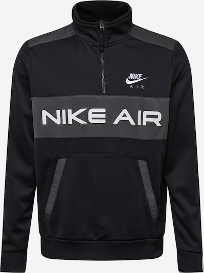 Nike Sportswear Sudadera en gris moteado / negro / blanco, Vista del producto