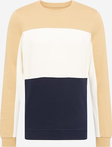 TOM TAILOR DENIM Sweatshirt in Braun