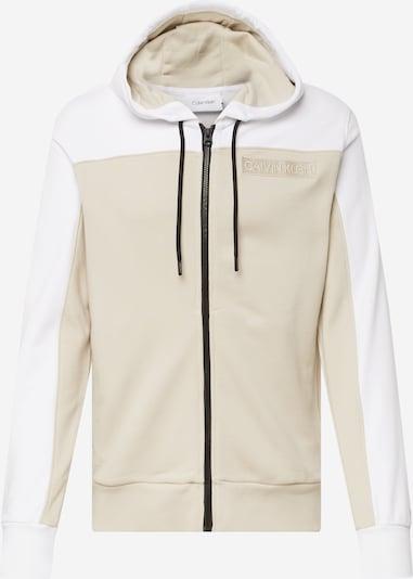 Džemperis iš Calvin Klein, spalva – smėlio spalva / balta, Prekių apžvalga