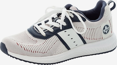RIEKER Sneaker in beige / dunkelblau / weiß, Produktansicht
