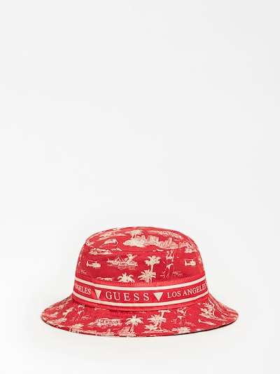 GUESS Hut in beige / rot, Produktansicht