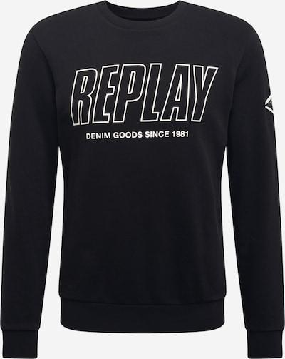 REPLAY Sweatshirt in schwarz / weiß, Produktansicht