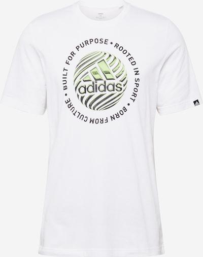 ADIDAS PERFORMANCE Tehnička sportska majica u svijetlozelena / crna / bijela, Pregled proizvoda