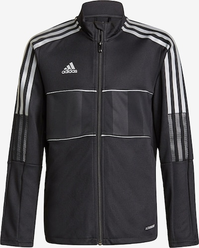 ADIDAS PERFORMANCE Sportjas 'Tiro' in de kleur Zwart / Wit, Productweergave
