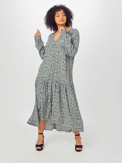 Zizzi Kleid in hellblau / hellgelb / grün / lila / schwarz, Modelansicht
