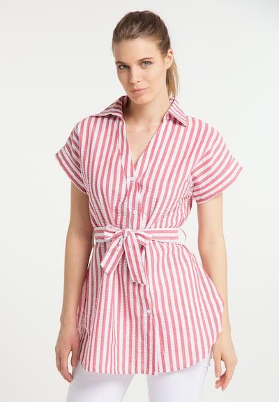 DreiMaster Maritim Bluse in pastellrot / weiß, Modelansicht