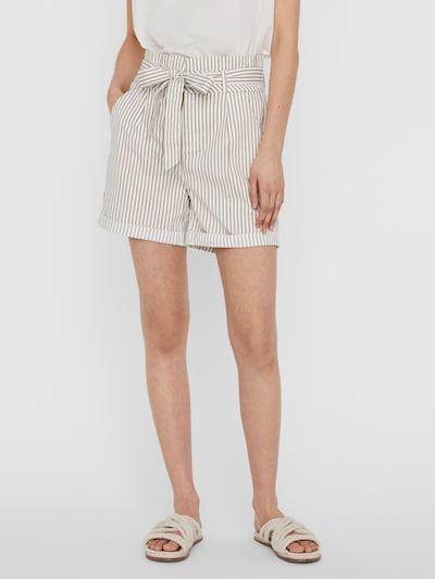 VERO MODA Bandplooibroek 'Eva' in de kleur Beige / Wit, Modelweergave