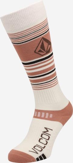 Volcom Chaussettes de sport en rosé / noir / blanc, Vue avec produit