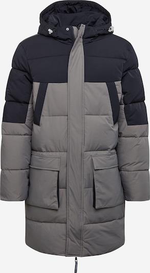Urban Classics Winterparka in de kleur Taupe / Zwart, Productweergave