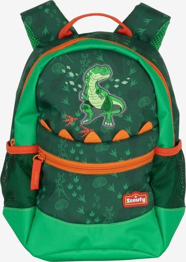 Scouty Sac à dos 'Rocky' en vert foncé / mélange de couleurs, Vue avec produit