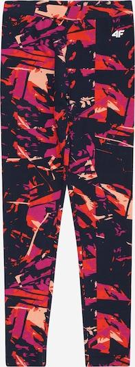 4F Sportbroek in de kleur Donkerlila / Sinaasappel / Perzik / Pink, Productweergave