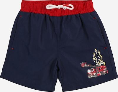 SALT AND PEPPER Plavecké šortky 'Firefighter' - tmavomodrá / žltá / sivá / červená / čierna / biela, Produkt
