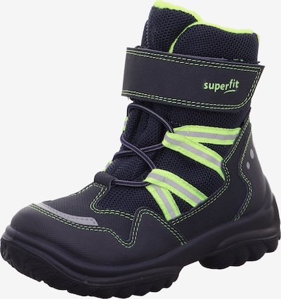 SUPERFIT Sniega apavi 'SNOWCAT' zils / neona dzeltens, Preces skats