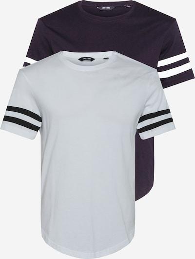 Only & Sons Koszulka 'MATT' w kolorze czarny / białym, Podgląd produktu